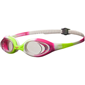 arena Spider Lunettes de protection Enfant, lime fuchsia-white-clear
